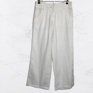 Michael Kors 100% Linen Wide Leg Pants Size 6